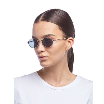 Unisex Round Clear Flame Sunglasses