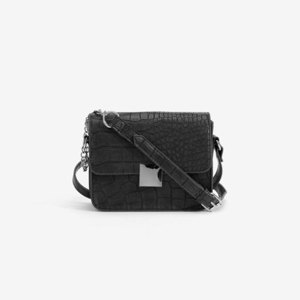 Faux Fur Chain Other Animal Patterns Crossbody Shoulder Bags