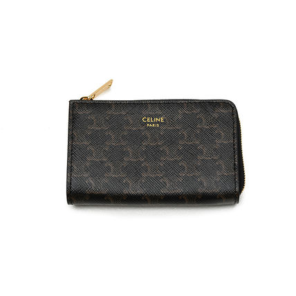 CELINE Zipped Coin Purse In Triomphe Canvas