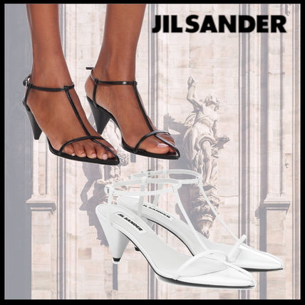 Jil Sander Open Toe Casual Style Blended Fabrics Plain Leather