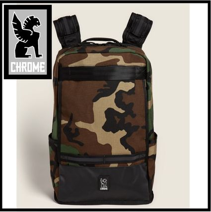 CHROME Backpacks Camouflage Plain Logo Backpacks
