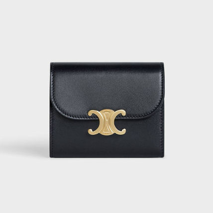 CELINE Flap Folding Wallet Calfskin Lambskin Folding Wallets