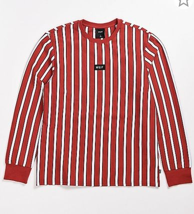 HUF Long Sleeve Crew Neck Stripes Street Style Long Sleeves Cotton 2