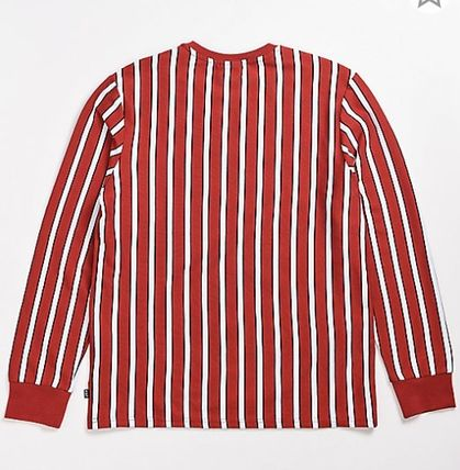 HUF Long Sleeve Crew Neck Stripes Street Style Long Sleeves Cotton 3