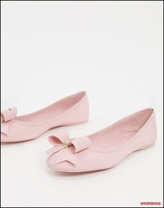 TED BAKER Platform Round Toe Casual Style Plain Office Style