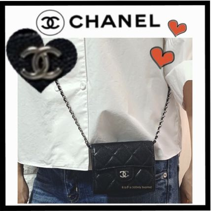 CHANEL MATELASSE Calfskin 2WAY Chain Plain Elegant Style Crossbody