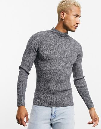 ASOS Cable Knit Pullovers Street Style Long Sleeves Plain
