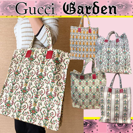 GUCCI Casual Style A4 Elegant Style Totes