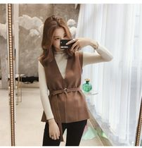 Casual Style Plain Office Style Vests