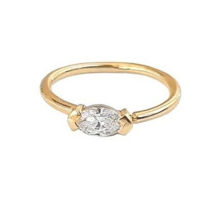 Casual Style 18K Gold Office Style Fine