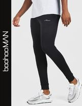 boohoo Sweat Street Style Logo Men Skinny Pants