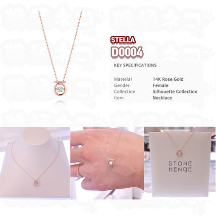 14K Gold Elegant Style Necklaces & Pendants