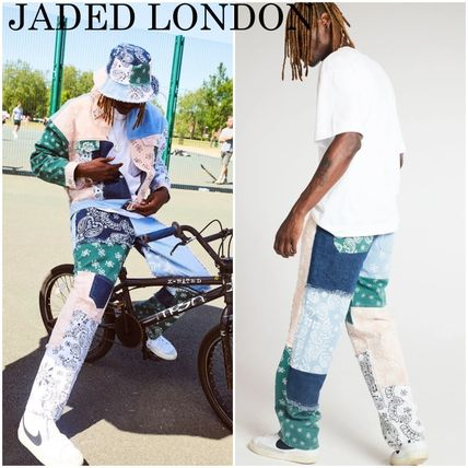 JADED LONDON More Jeans Paisley Denim Street Style Cotton Jeans