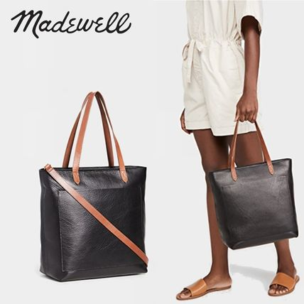 Casual Style Plain Leather Office Style Elegant Style Totes