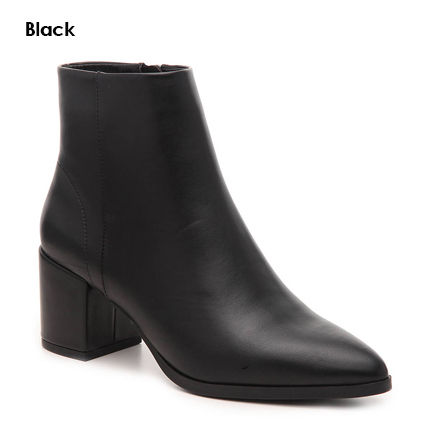 Casual Style Faux Fur Plain Block Heels Party Style