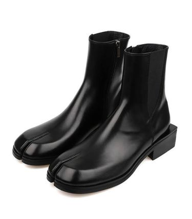 HUMANT Unisex Street Style Plain Leather Chelsea Boots Boots