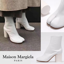 Maison Margiela Casual Style Studded Street Style Plain Leather Block Heels