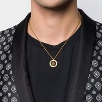 VERSACE Unisex Street Style Logo Necklaces & Chokers