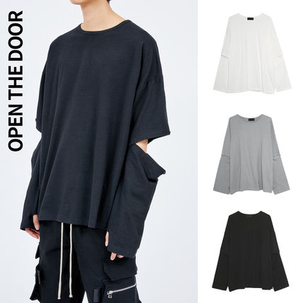 OPEN THE DOOR More T-Shirts Unisex Street Style Plain Oversized T-Shirts