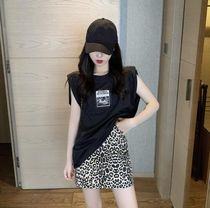 Short Leopard Patterns Mini Skirts
