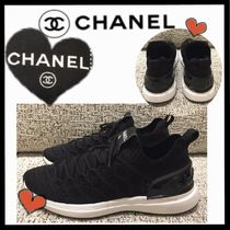 CHANEL SPORTS Casual Style Unisex Blended Fabrics Plain Low-Top Sneakers