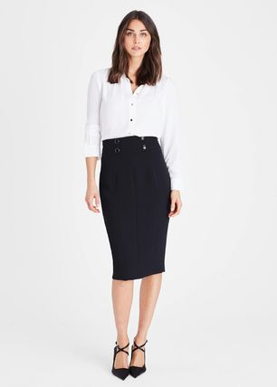 Phase Eight Pencil Skirts Plain Medium Office Style Elegant Style