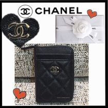 CHANEL MATELASSE Calfskin Plain Small Wallet Coin Cases