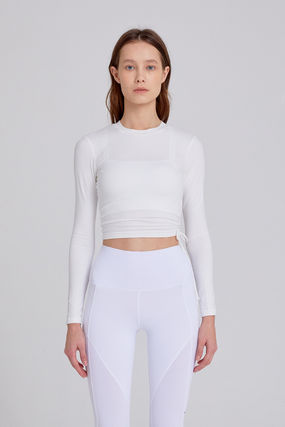 Blended Fabrics Street Style Activewear Tops