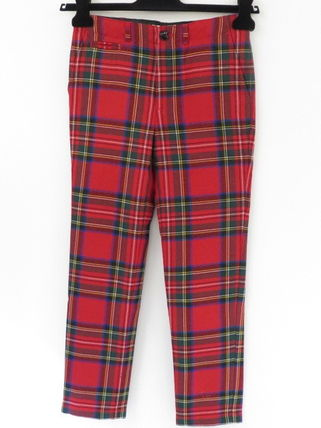 Burberry BURBERRY Red Check-print Trousers #4068482