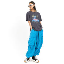 OPEN THE DOOR Street Style Plain Oversized Pants