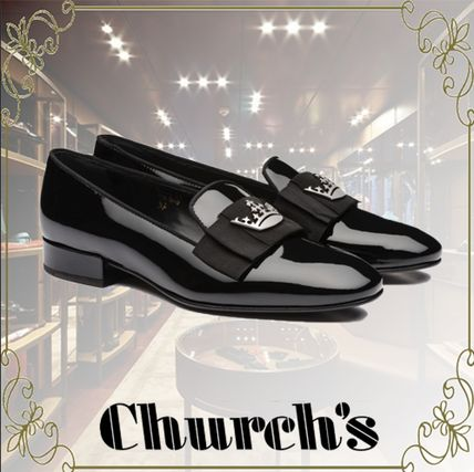 Round Toe Rubber Sole Casual Style Plain Leather