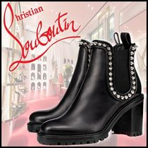 Christian Louboutin Plain Toe Mountain Boots Casual Style Blended Fabrics