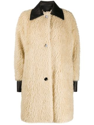 Casual Style Fur Plain Leather Medium Office Style