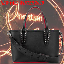 Christian Louboutin Unisex Street Style 2WAY Plain Leather Crossbody Bag Logo