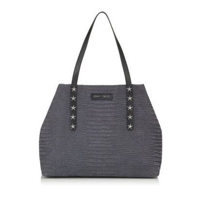 Star A4 2WAY Leather Logo Totes