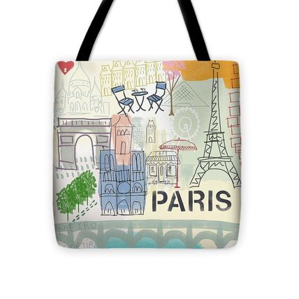 fineartamerica Casual Style Unisex A4 Elegant Style Totes