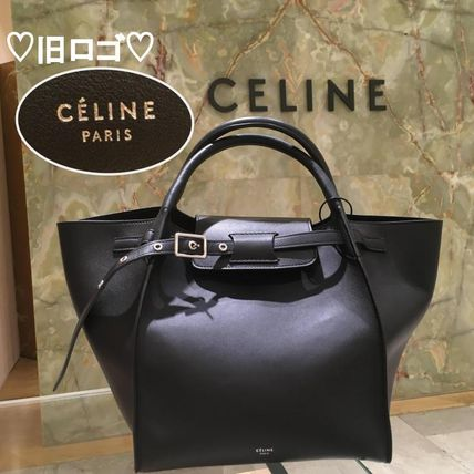 Casual Style Calfskin Plain Leather Shoulder Bags