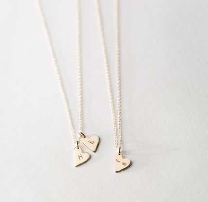 Casual Style Initial 14K Gold Elegant Style