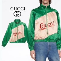 GUCCI Cotton Viscose Jacket With Gucci Script