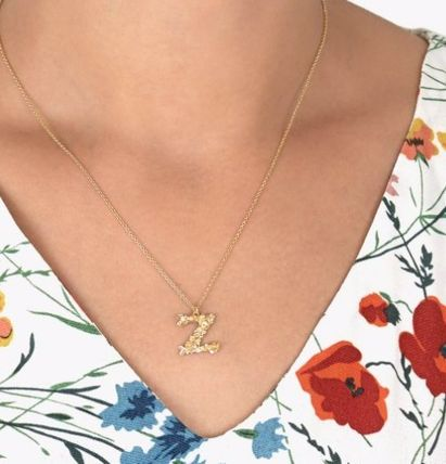 Casual Style Flower Silver 22K Gold Office Style