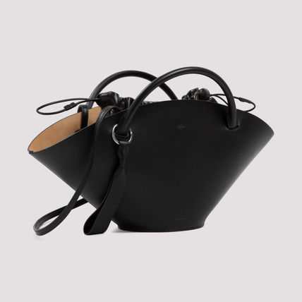 Suede 2WAY Plain Leather Purses Office Style Elegant Style