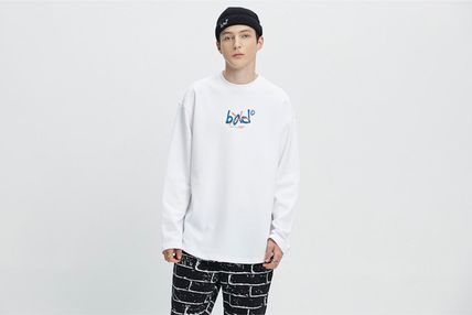 Street Style Long Sleeves Oversized Long Sleeve T-shirt Logo