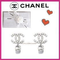 CHANEL ICON Costume Jewelry Party Style Elegant Style Earrings
