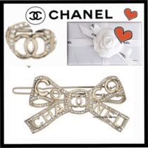 CHANEL ICON Costume Jewelry Barettes Party Style Brass Elegant Style
