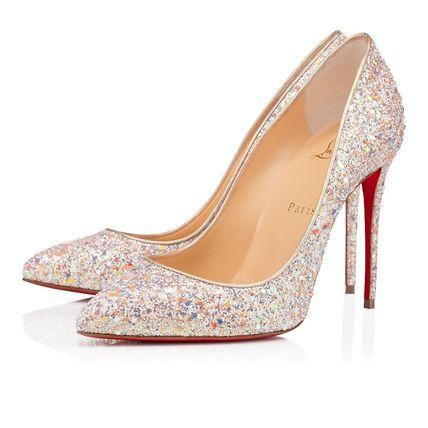 Christian Louboutin Pigalle Follies Plain Leather Pin Heels Party Style Office Style