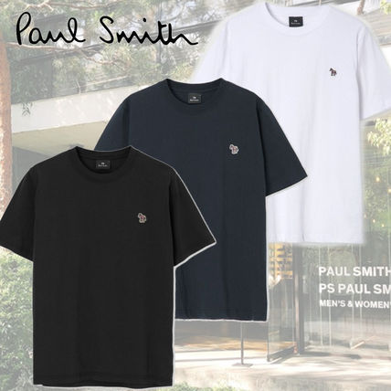 Paul Smith Logo Plain Street Style T-Shirts