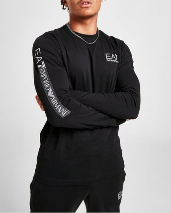 Long Sleeves Cotton Logos on the Sleeves Long Sleeve T-shirt