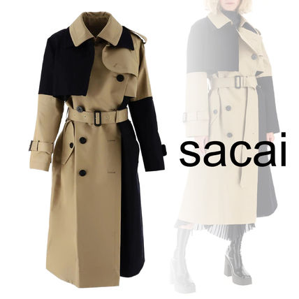 sacai Long Office Style Trench Coats