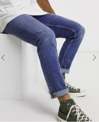 Blended Fabrics Street Style Plain Cotton Jeans