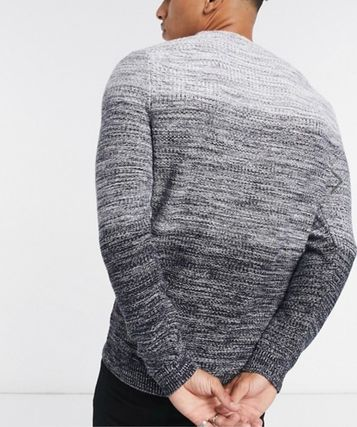 Crew Neck Long Sleeves Cotton Sweaters